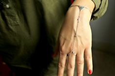 Use COUPON CODE SALE20 Handflower Handchain Bangle by meltemsem
