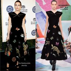Camilla Belle in Schiaparelli Couture at The Art of Elysium Gala
