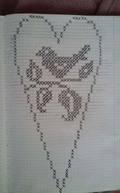 Rhea Blodgett's media content and analytics Cross Stitch Heart, Cross Stitch Flowers, Counted Cross Stitch Patterns, Crochet Birds, Crochet Doilies, Fuse Beads, Perler Beads, Beading Patterns, Crochet Patterns