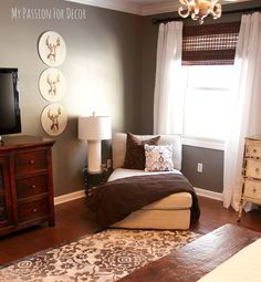 Master Bedroom Makeover Using A Cutting Edge Stencil