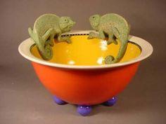 Chameleon bowl – Lisa Scriggins