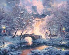 Holiday at Central Park by Thomas Kinkade