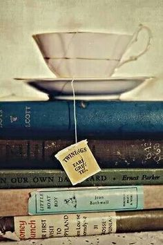 Good day: books and tea