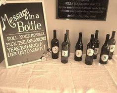 Message in a bottle. Use #uppercaseliving vinyl to add number labels to the outside of the #winebottle