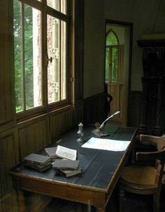 Alexandre Dumas writing desk,  Port Marly, Yvelines, France