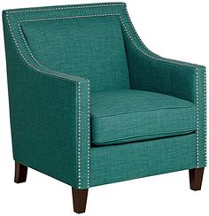 Flynn Teal with Chrome Nailheads Accent Chair Studio D http://www.amazon.com/dp/B00LFMWS2K/ref=cm_sw_r_pi_dp_0q8Cub1DCAXRY