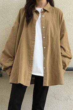 Big Corduroy Shirt for Sale Teen Fashion Outfits, Mode Outfits, Hijab Fashion, Korean Fashion, Fall Outfits, Casual Hijab Outfit, Cute Casual Outfits, Retro Outfits, Aesthetic Fashion