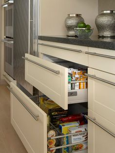 Pantry drawers -- what a good idea!
