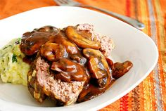 What's Cookin, Chicago?: Bacon & Blue Cheese Meatloaf with Mushroom Gravy