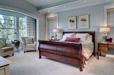 University - traditional - bedroom - dallas - by Domiteaux + Baggett Architects, PLLC Paint color sea salt by sherwin williams