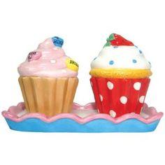 Amazon.com: Westland Giftware Ceramic Salt and Pepper Shaker Set, 3.25-Inch, Cupcake Treats, Set of 2: Home & Kitchen