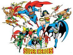 Super Heroes by José Luis García-López from the 1982 DC Comics Style Guide