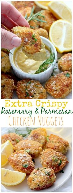 Rosemary Parmesan Chicken Nuggets - great kid-friendly recipe