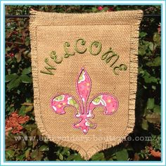 In the Hoop - Embroidery Boutique Embroidery Designs, Embroidery Boutique, Embroidery Fonts, Embroidery Applique, Machine Embroidery, Burlap Garden Flags, Burlap Flag, Applique Patterns, Applique Designs