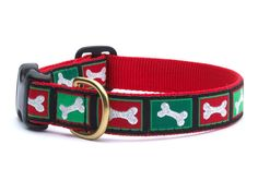Christmas Bones Dog Collar $21