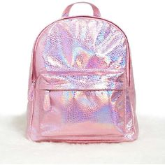 8dabc631c7 Forever21 Holographic Top-Zip Backpack ( 28) ❤ liked on Polyvore featuring  bags