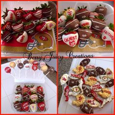 49ERS covered strawberries, cake pops, and rice crispy treats! #berryjuicycreations