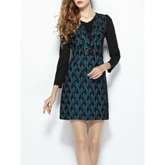 Blue Floral Work Mini Dress ($70) ❤ liked on Polyvore featuring dresses, short dresses, short blue dresses, floral dresses, floral mini dress and floral print dress