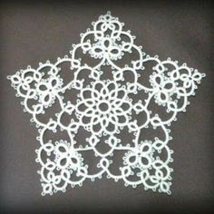 Johar... A star pattern, requiring 2 shuttles . Free pattern chart at site