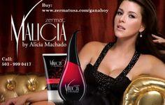 Fragancia Inspirada en una de las mujeres mas bellas del Universo Alicia Machado.  A sophisticated aroma inspired by one of the most beautiful women in the universe, Alicia Machado.  Buy at  www.zermatusa.com/GanaHoy