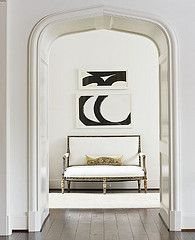 Black and white adds a very sophisticated touch to a room - like a pencil drawing does