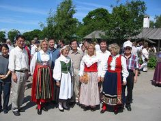 traditional swedish clothes in stockholm, via Flickr.