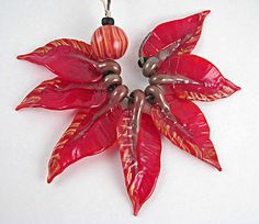 Rapunsel's Scarlet Leaves with One Berry Lampwork Bead Set SRA Isgb | eBay
