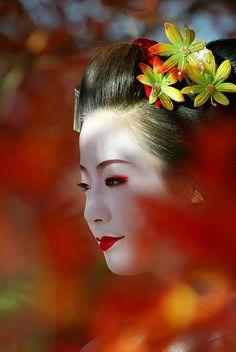 taishou-kun:  Kimiho きみほ, maiko shogunzuka 将軍塚 from Miyagawa-chou 宮川町、Kyouto 京都 - November 2002 Source: Watanabesan, Flickr