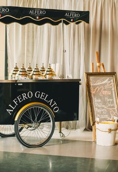 A mobile gelato cart! A Romantic and Ethereal Singapore Wedding at The Joyden Hall: Samuel and Brenda