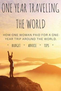 PIN IT GUYS. A one-year budget breakdown of costs to travel the world -- she spent less than 18k -- this is an amazing blog