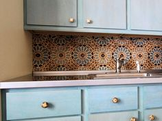Amazing Mosaics  Intricate tilework is a hallmark feature of Moroccan design, found everywhere from floors to walls to tabletops. For an exotic touch, try installing Moroccan-inspired tile as a kitchen backsplash or across an entire floor to make a dramatic statement. Morocco pattern tile from Filmore Clark's Patterson Encaustic Collection