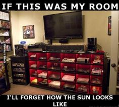 If this were my room, I'd forget what the Sun looks like.