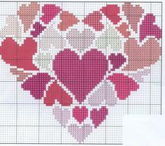 Celtic Cross Stitch, Cross Stitch Heart, Beaded Cross Stitch, Cross Stitch Alphabet, Cross Stitch Needles, Cross Stitch Embroidery, Embroidery Patterns, Wedding Cross Stitch Patterns, Cross Stitch Designs