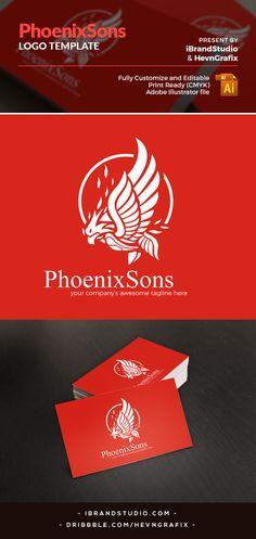 Free Logo Template: Phoenix Sons (AI & EPS)