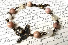Faceted Sunstone and Moonstone Angel Rosary by CaritasDeiLLC