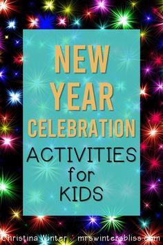 These new years activities for kids are a fun way to celebrate the new year, set new year's goals, or make resolutions in the classroom. Students will have fun with the free things to do while celebrating the new year at school. Also included are writing activities and printable goal setting worksheets for kids. #newyearsactivities #newyeargoalsetting #goalsettingforkids #newyearactivitiesforkids