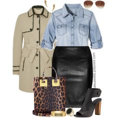 Plus Size Fashion - Leather Skirt by alexawebb on Polyvore featuring Pure Energy, Vince, Sophie Hulme, Tory Burch, House of Harlow 1960, Rebecca Minkoff, Eloquii, outfit, plussize and plussizefashion