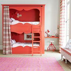 Girl's bedroom with bunk beds | Girls' bedrooms - 10 of the best | PHOTO GALLERY | Homes & Gardens | Housetohome.co.uk