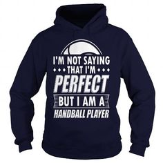 Funny Handball Handballer Shirt Not Perfect - Mens Premium T-Shirt  LIMITED TIME ONLY. ORDER NOW if you like, Item Not Sold Anywhere Else. Amazing for you or gift for your family members and your friends. Thank you! #handball #shirts