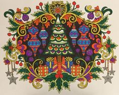 ColorIt Free Coloring Pages Colorist: Gayle Larson #adultcoloring #coloringforadults #adultcoloringpages #12FreeChristmasPages