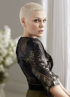 British singer Jessie J is photographed by David Roemer and styled by Jayne Pickering for Marie Claire UK September 2013, with hair by Alisha Dobson, makeup by Karin Darnell, manicure by Kim Treacy and set design by Matthew Duguid.
