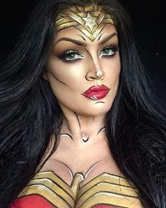"798 Likes, 33 Comments - ⚡️NaTaLiE⚡️ (@natzbuzz) on Instagram: ""#wonderwoman #makeup #wonderwomanmakeup #irish #mua #sfxmakeup #fxmakeup #dc #marvel…"""