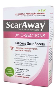 ScarAway C-Section Scar Treatment Strips, Silicone Adhesive Soft Fabric 4-Sheets (7 X 1.5 Inch):Amazon:Health & Personal Care