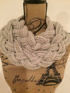 Tina's handicraft : Double Layered Braided Cowl | Free Crochet Pattern with Tutorial