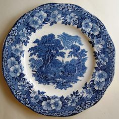 Blue and White Wedgwood Plate / Decorative platter by cherryshop
