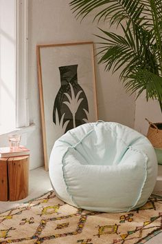 Captivating Exposed Seam Bean Bag Chair
