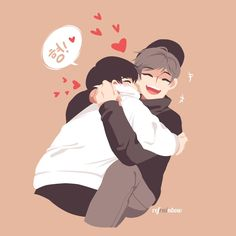 """""""[YoonKook Week] Day 1 - Favorite moment! ofc that legendary hug /o/"""""""