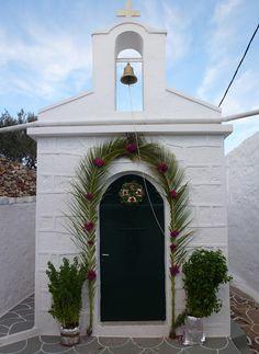 Church Kastro Chorio, Kimolos, Greece.