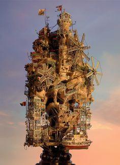 TAKANORI AIBA: Sculpture with Photo Collage by Takanori Aiba, via Flickr