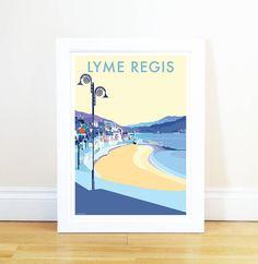 Lyme Regis Vintage Seaside Poster